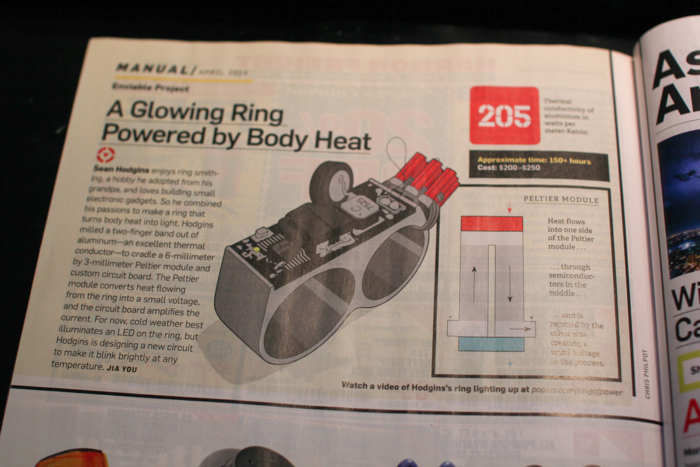 Energy Harvesting Ring in PopSci!