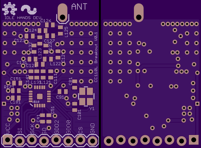 TI CC11X 868/915mhz RF Breakout  | Idle Hands Project Archive
